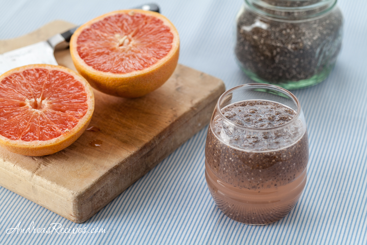 Grapefruit and Chia Drink (Chia Fresca con Toronja) - Andrea Meyers