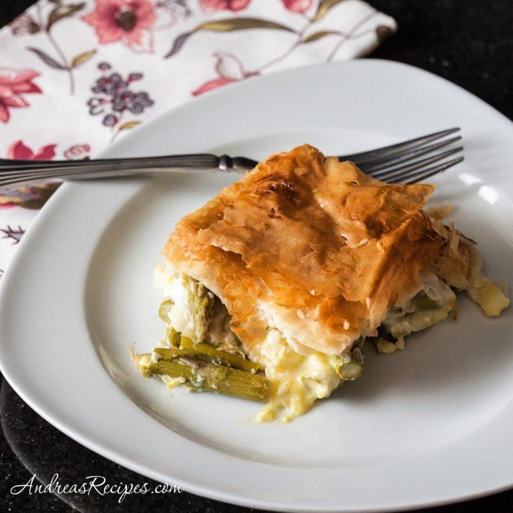 Asparagus and Leek Pie - Andrea Meyers