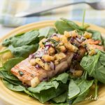 Grilled Salmon with Fresh Pineapple Salsa - Andrea Meyers
