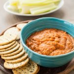Roasted Red Pepper Cannellini Bean Dip - Andrea Meyers