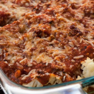 Cauliflower Casserole with Italian Sauce
