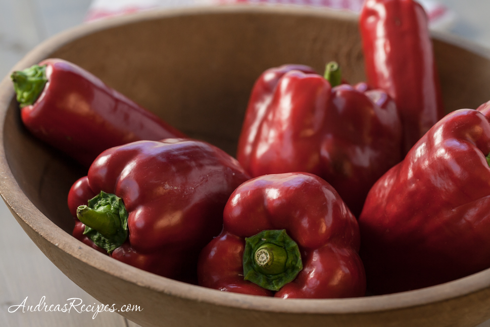 Homegrown Red Peppers - Andrea Meyers