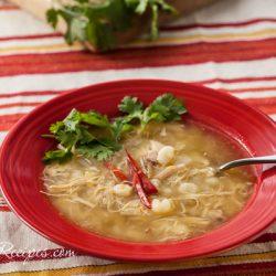 Chicken and Tomatillo Posole Recipe - Andrea Meyers
