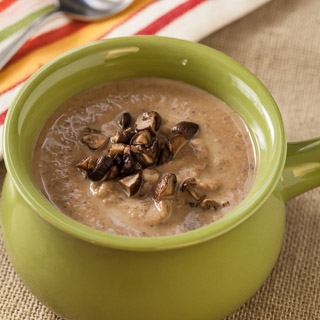 Creamy Roasted Mushroom and Cannellini Bean Soup