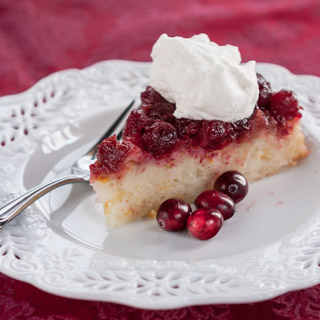 Cranberry Orange Upside Down Cake - Andrea Meyers