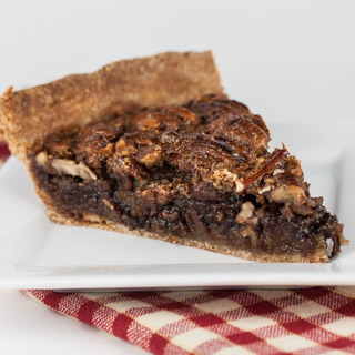 Bourbon Chocolate Pecan Pie with Whole Wheat Crust