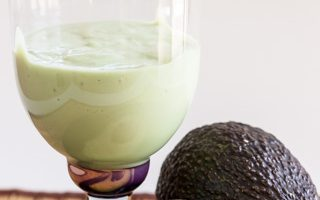 Avocado Smoothie with Soy Milk