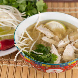 The Daring Cooks Make Steamy Kitchen's Pho Ga