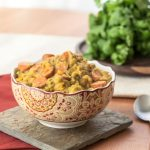 Slow Cooker Sweet Potato, Cauliflower, and Broccoli Curry - Andrea Meyers