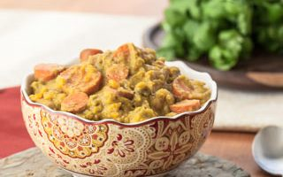 From the Pantry: Thai Yellow Curry Paste (Slow Cooker Sweet Potato, Cauliflower, and Broccoli Curry)