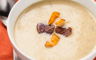 Potato-Leek Soup with White Truffle Honey