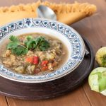 Grilled Tomatillo Chili with Chicken - Andrea Meyers