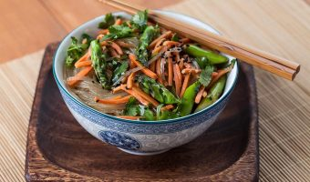 Asparagus Noodle Salad with Sesame Ginger Vinaigrette (The Kids Cook Monday)
