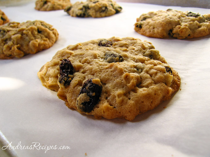 Chewy Oatmeal Raisin Cookies, by Andrea Meyers