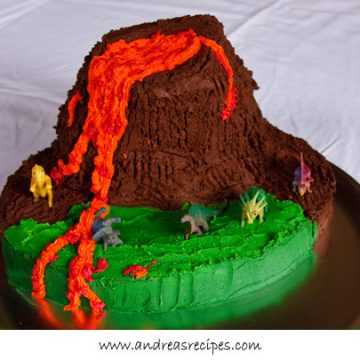 Volcano Birthday Cake - Andrea Meyers