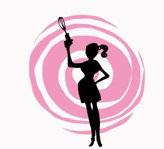 Daring Bakers pink silhouette, 2007