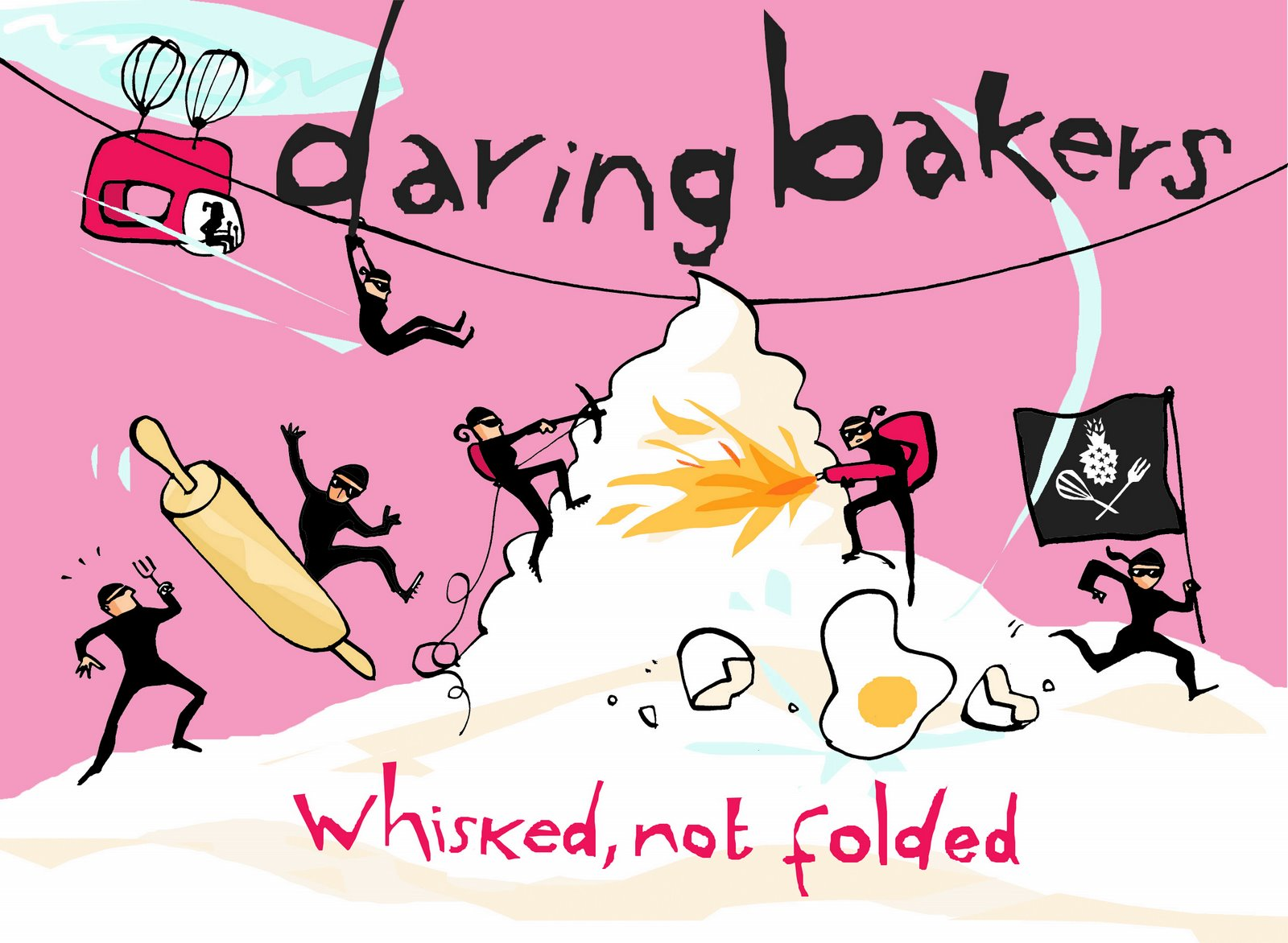 Daring Bakers logo, whisked not folded, 2007