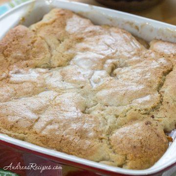 Gluten-Free Peach Pudding Cake - Andrea Meyers